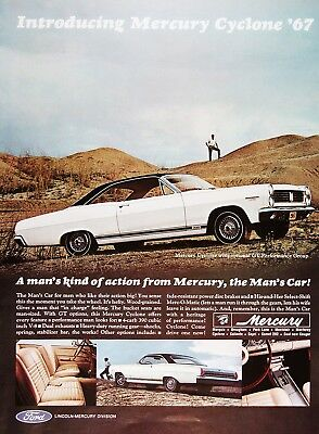 1967 MERCURY CYCLONE GT Original Vintage Ad ~ The Man's Car