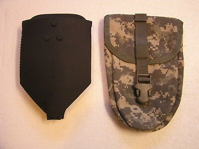 *NEW US Army Military Entrenching Folding Shovel & NEW ACU Pouch Cover AMES