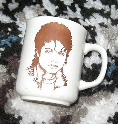 Michael Jackson coffee MUG original 1980s collector memorabilia Korea