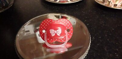 🎀 BEAUTIFUL BOW 🎀 PUTTY DUMMY PACIFIER REBORN BABY Safe MAGNET alternative