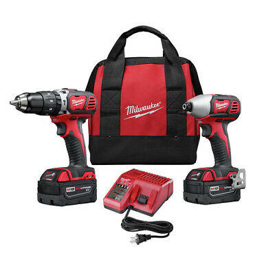Milwaukee 2697-82 M18 Lithium-Ion 1/2 in. Hammer Drill, Impact Driver Kit