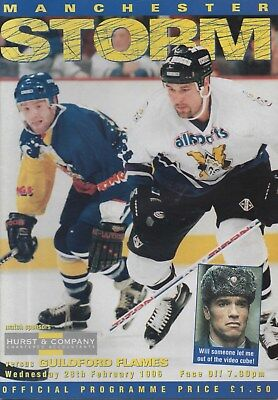 Feb 96 MANCHESTER STORM v GUILDFORD FLAMES Storm first season