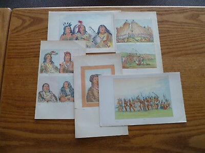 Sioux Indians-Lithographs by George Catlin-1841-Warriors-Dog Dance-Torture