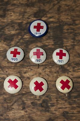 Antique Red Cross Pin