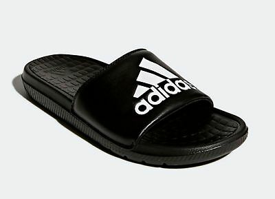 NEW ADIDAS MEN'S VOLOOMIX Black GRAPHIC SANDALS SLIDES size 8 9 10 11 12 13