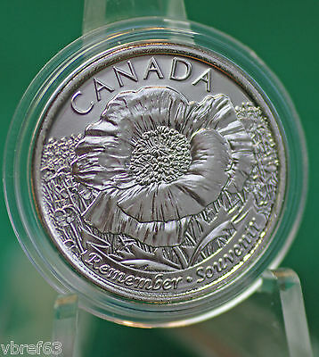 2015 Canada THREE Special Non-Coloured Poppy Quarters - 3 coins from roll
