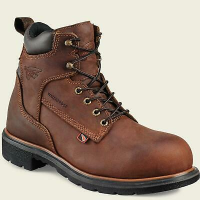4e3fcd4bc96 Red Wing 4215 Mens STEEL TOE Brown MADE IN THE USA Waterproof Leather Boots