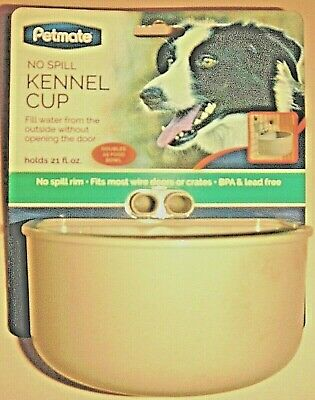 Petmate 43492 No Spill Kennel Cup Holds 21 FL OZ QTY 3 Cups