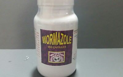 Wormazole Poultry Wormer, Chickens,Rooster Best Wormer 100 Capsules