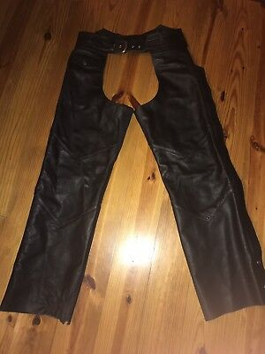 Harley Davidson Womens Leather Chaps Size LW