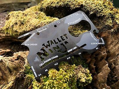 Wallet Ninja 18 Tools In 1 Worlds First Flat Multi Tool Gadget UK Stock