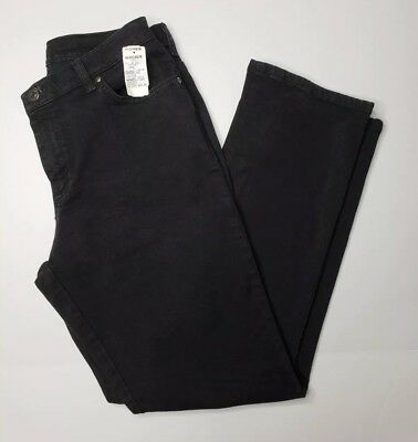 Lee Women's Relaxed Fit Straight Leg Stretch Jeans Black  - Sizes 10 14 16W