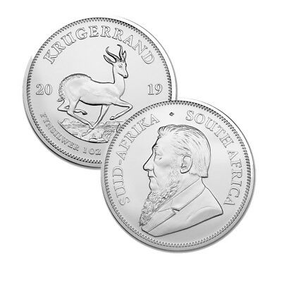 2019 Silver South Africa 1 oz Silver Krugerrand .999 fine Silver 1 Rand