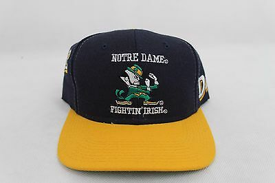 Vintage Notre Dame Fighting Irish Snapback Hat Cap Sports Specialties 90s NCAA