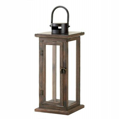 New Perfect Lodge Wooden Lantern Candle Holder Hangs Stands Home Garden Decor