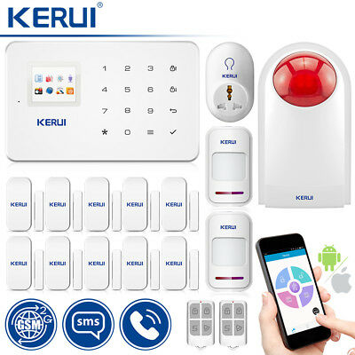 KERUI G18 GSM SMS Wireless Outdoor Siren Home Security Alarm System+Smart Socket