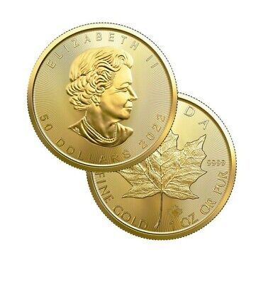 2019 Gold 1 oz Canadian Gold Maple Leaf $50 Coin .9999 Fine coin