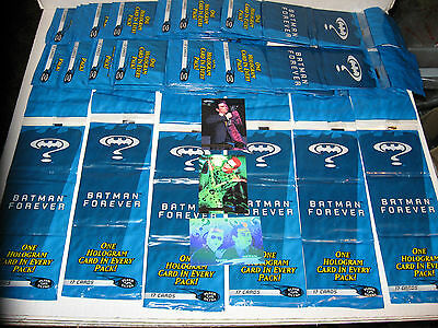30 TRIPLE RACK PACKS 1995 FLEER ULTRA BATMAN FOREVER W/ HOLOGRAM CARD Like 90 Pk