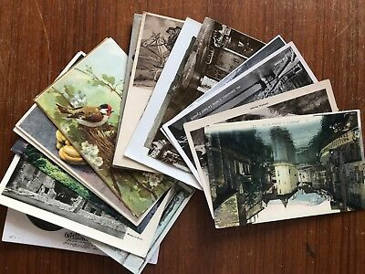 18x old postcards mostly 1930s. Good lot. Very wide range. 382a