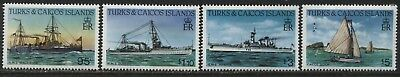 Turks & Caicos Ships 4 values to $5 mint o.g.