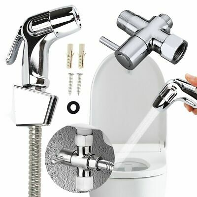 Toilet Handheld Stainless Steel Bidet Sprayer Douche kit Shower Head w/ Adapter