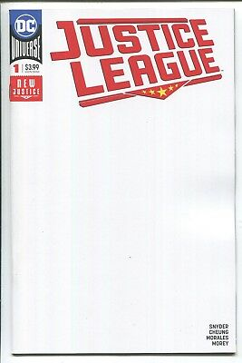 Justice League #1 Blank Variant Cover - Jimmy Cheung Art - Dc Comics/2018
