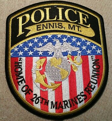 MT Ennis Montana Police Patch