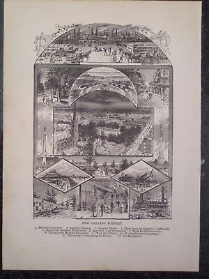 Views of New Orleans Louisiana 1889 Old Antique Print