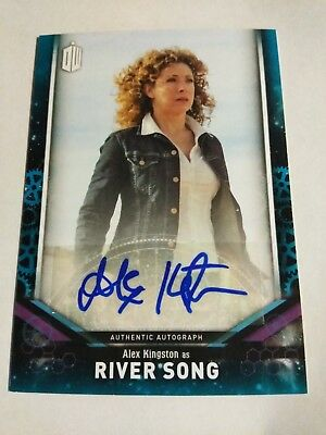 2018 Topps signature Doctor Who Auto Autograph Card RIVER SONG Alex Kingston 25