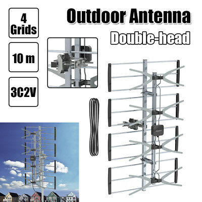 Professional 470-860MHz 4 Grids 10 m 3C2V 85 Miles Double-head Outdoor Antenna