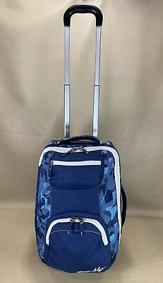 """Oakley Blue Luggage 20"""" Upright Global Carry On Roller Suitcase Travel Bag"""