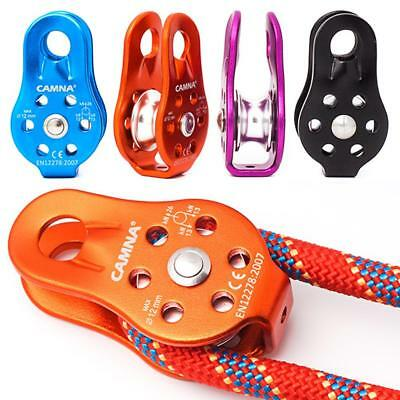 Aluminum Alloy Single Wheel Swivel Pulley Traction Sheave Fixed Side Rope Pulley