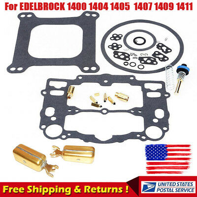 For Edelbrock Rebuild Kit EDL1477BL 1400 1404 1405 1406 1407 1409 1411 W/ Pump