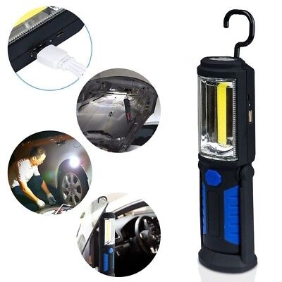 Camping Light COB LED Hand Torch Lamp Magnetic Inspection Work Light Flexible