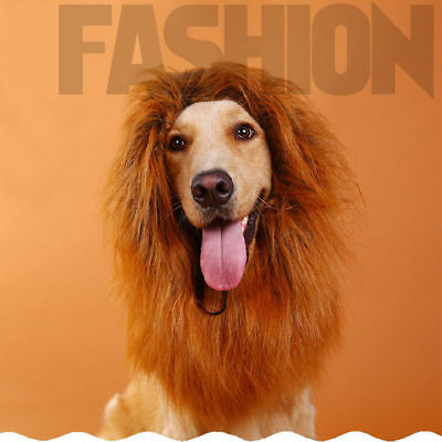 1Pc Cute Large Pet Dog Lion Mane Wig Hair Costume Dress New Year Pet Dift