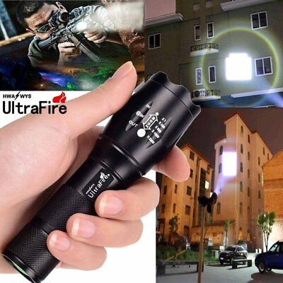 Ultrafire Zoomable 50000 Lumens T6 LED Tactical Torch Police Focus Light PK