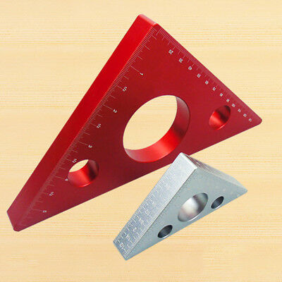 1X Mini Square Carpenter's Measuring Ruler Layout Tool Triangle Angle Protractor