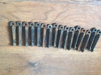 Vintage stair carpet clips grips x 16 all used