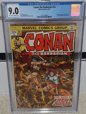 Conan the Barbarian #24 (1973) CGC 9.0 - 1st Full Red Sonja Barry Windsor KEY