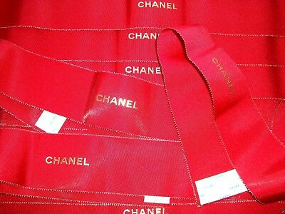 NEW SUPER RARE WIDE RED RIBBON CHANEL (10 pieces of pack)