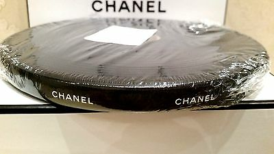 NEW RARE BLACK CHANEL RIBBON Gift Wrapping roll 100 meters (109.36 yards)