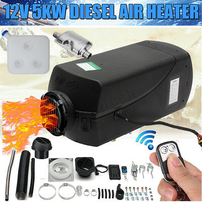 12V 5KW Air Diesel Heater 10L Tank LCD Switch Remote F/ Trucks Car Boat