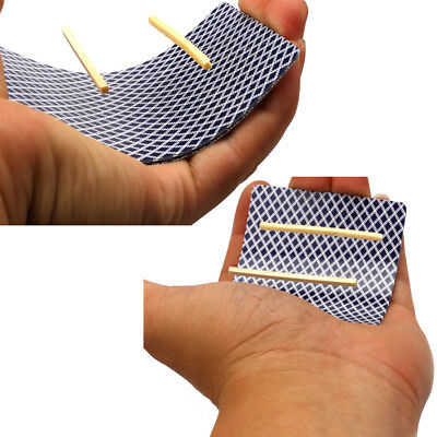 5X air floating magic tricks floating match on card magic toothpick props  IH