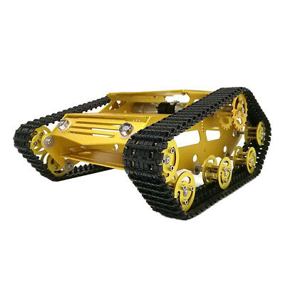 Smart Robot Tank Car Chassis Kit Plastic Track Crawler with 2 Motors