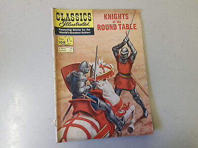 CLASSICS ILLUSTRATED COMIC No. 108 Knights of the Round Table -  1/- HRN 106