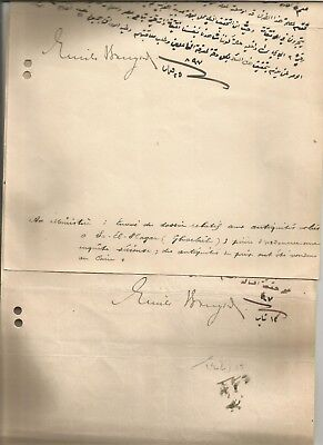 EGYPT ÄGYPTEN 1897 2 LETTERS SIGNED BY Germany Egyptologist Émile Brugsch LOT 10