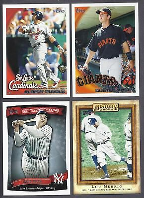 2010 Topps Series 1 & 2 Lot Complete Your Set & Inserts 20 Picks