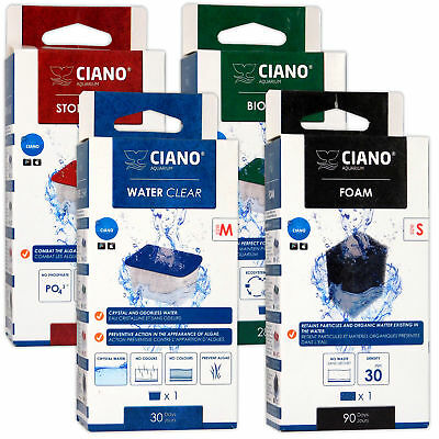 Ciano Filter Cartridge CF40 CF80 Bio Foam Algae Clear Small Medium Aquarium
