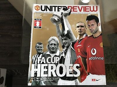 Manchester United V Manchester City. February 2004. Fa Cup. Match Programme.