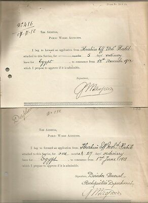 Egypt Ägypten 1912-13 2 Letters Signed By France Gaston Maspero Lot 13